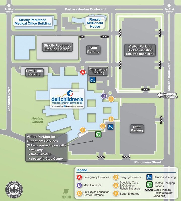 Campus Map | Campus map, Children\'s medical center, Map