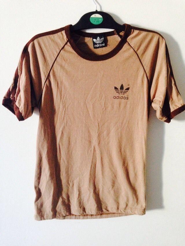 Vintage Adidas Trefoil T Shirt M - Classic - BROWN