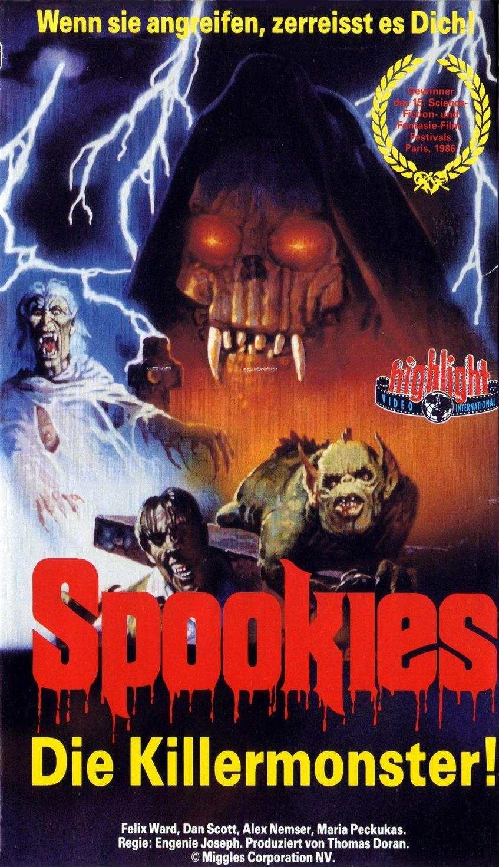 Spookies (1986) German VHS Cover Horror movies