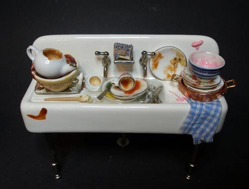 Messy sink. Just like the full-sized version! Love it! Think i ...