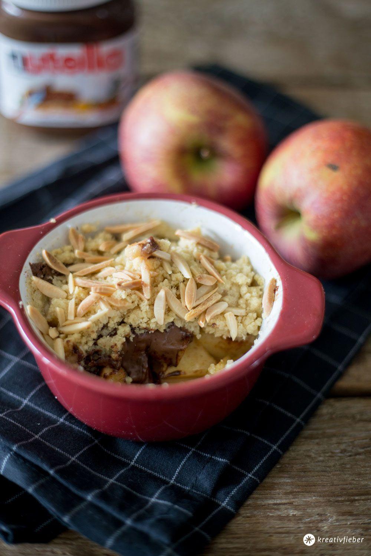 Kuchen mit apfeln und nutella