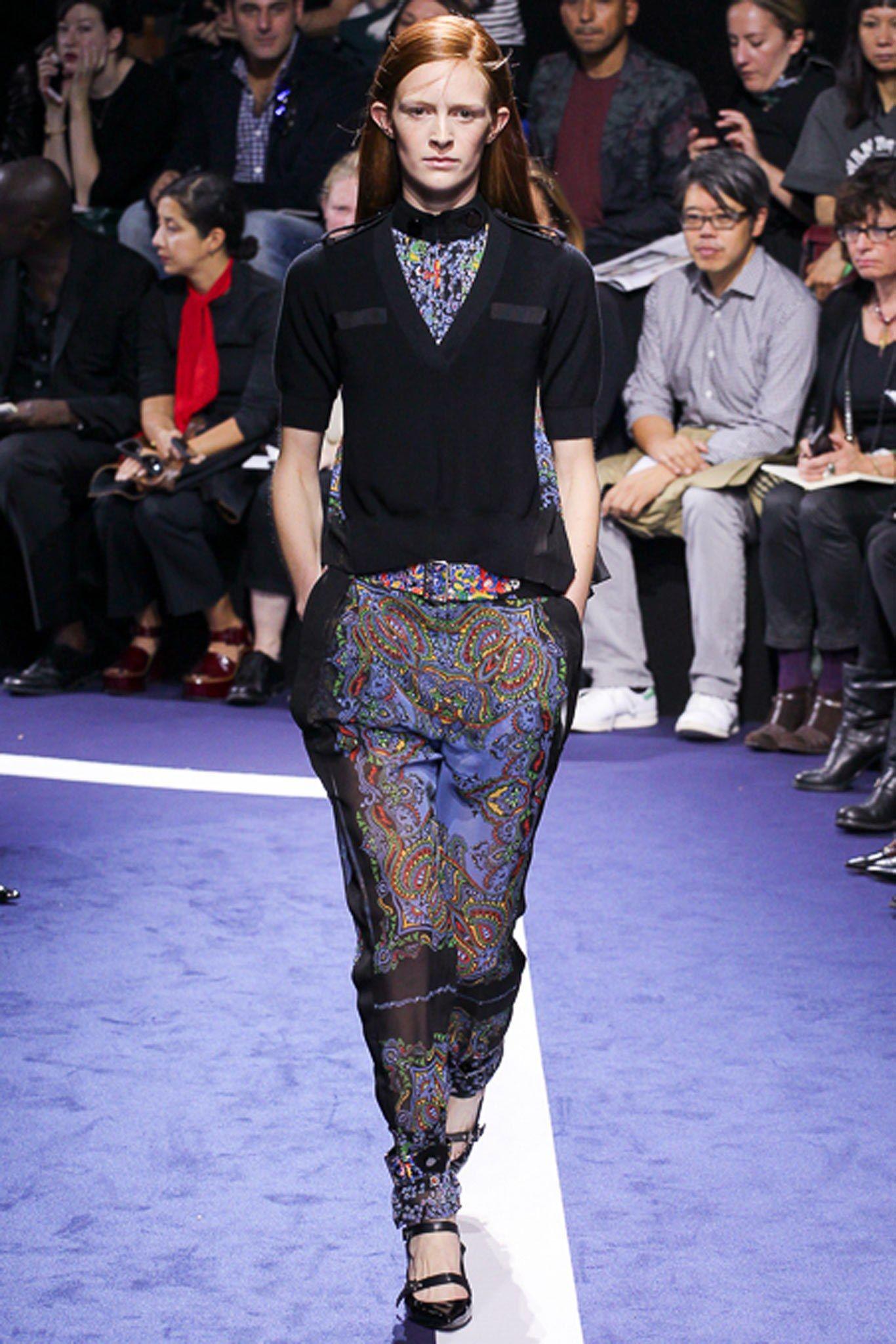 Sacai Spring 2015 Ready-to-Wear Fashion Show - Malou Høgenhaven (OUI)