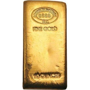 Buy Johnson Matthey 10 Oz Gold Bar Poured Online For 13 310 00 At Texas Bullion Exchange Gold Bullion Bars Gold Bullion Buy Gold And Silver