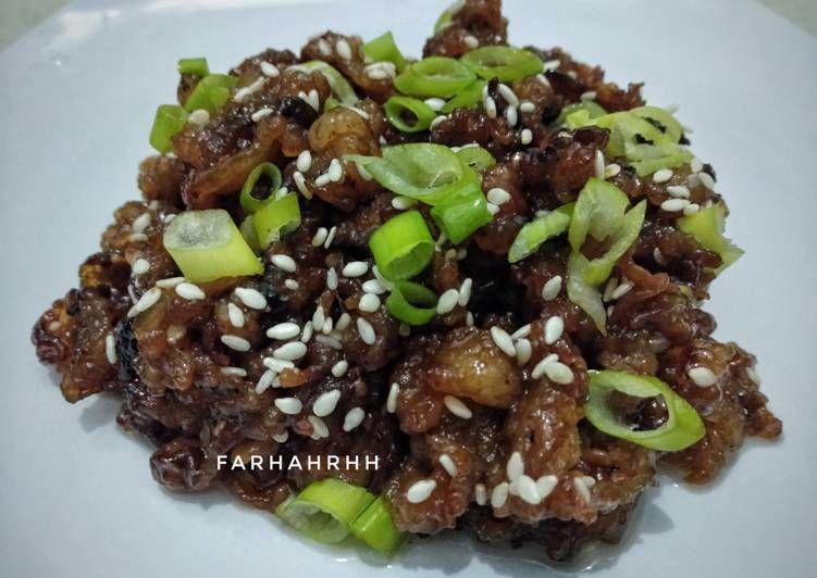 Cara Membuat Bulgogi Korean Beef Bbq Di 2020 Bulgogi Kimchi Daging Sapi