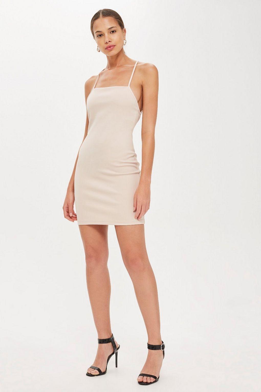 Topshop Dresses | Pink Cross Front Mini
