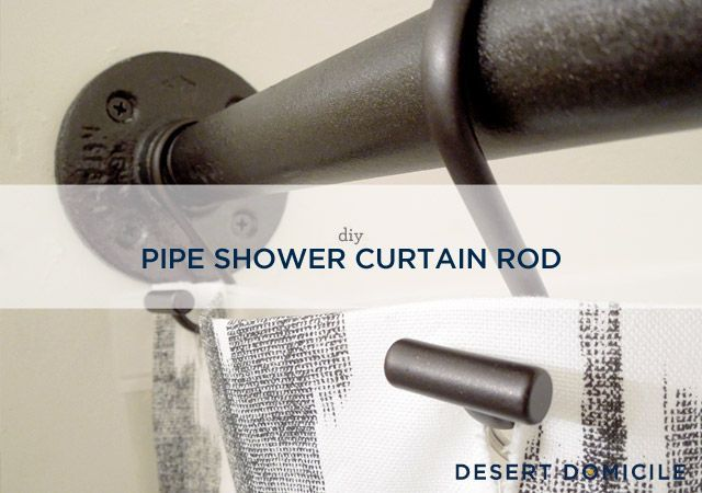 Curtains Ideas cover for shower curtain rod : 17 best ideas about Industrial Shower Curtain Rods on Pinterest ...