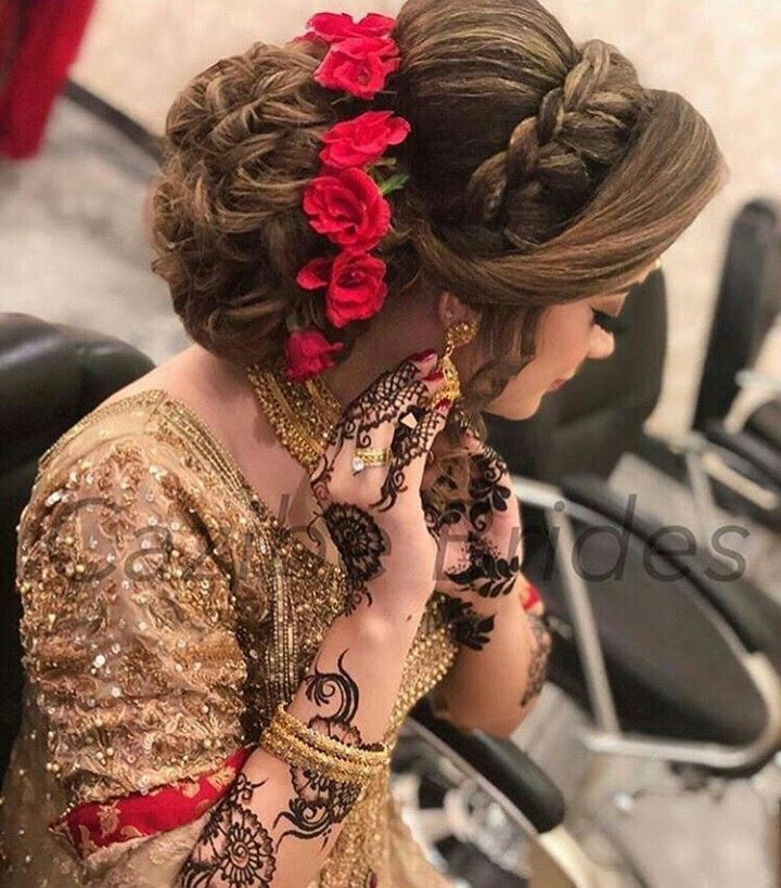Bridal Hair Style Bridal Style New Bridal Hair Buns Hair Styles Bridal Hairstyle Indian Wedding