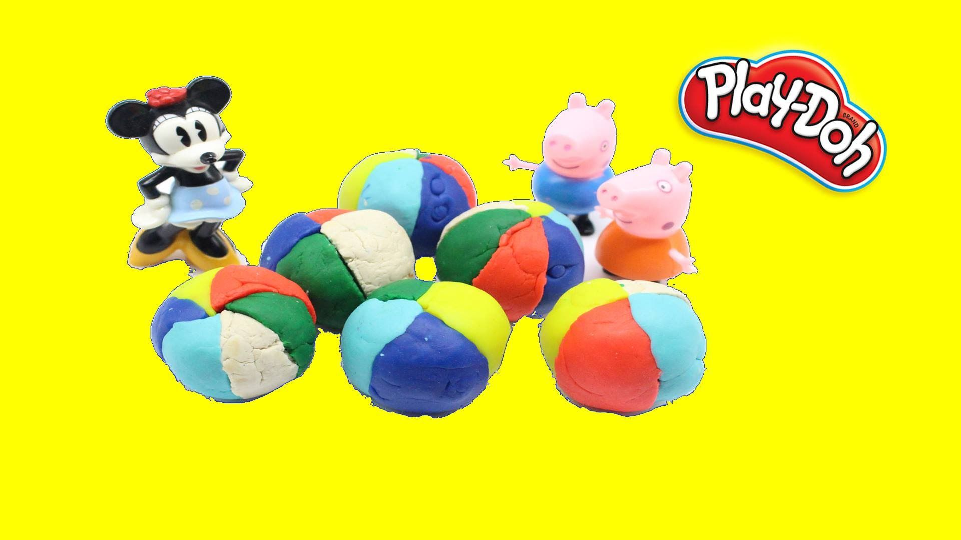 Play Dough Balls with Peppa pig Toys Fun for Kids