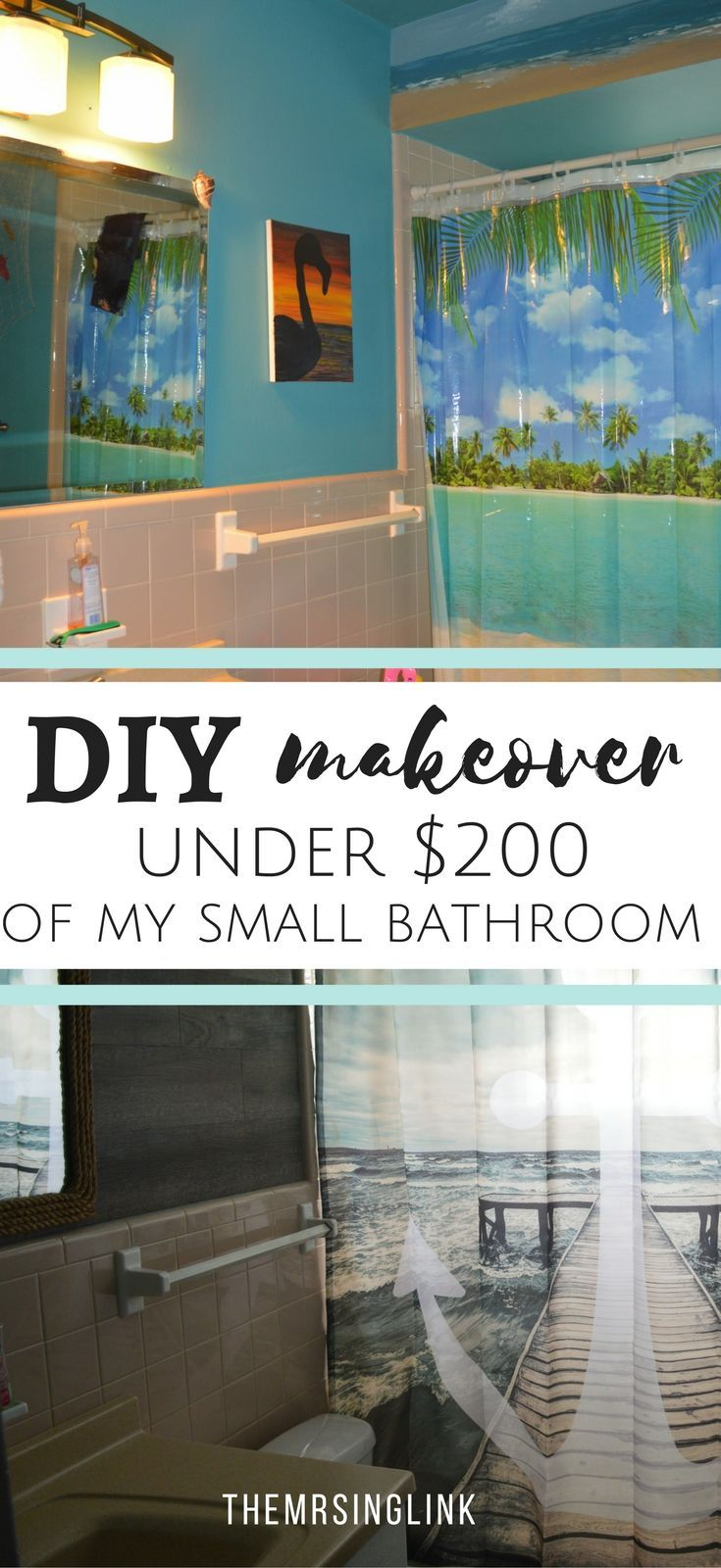 Design Megillah Bathroom Redesign For Under 200: DIY Small Bathroom Makeover Under $200