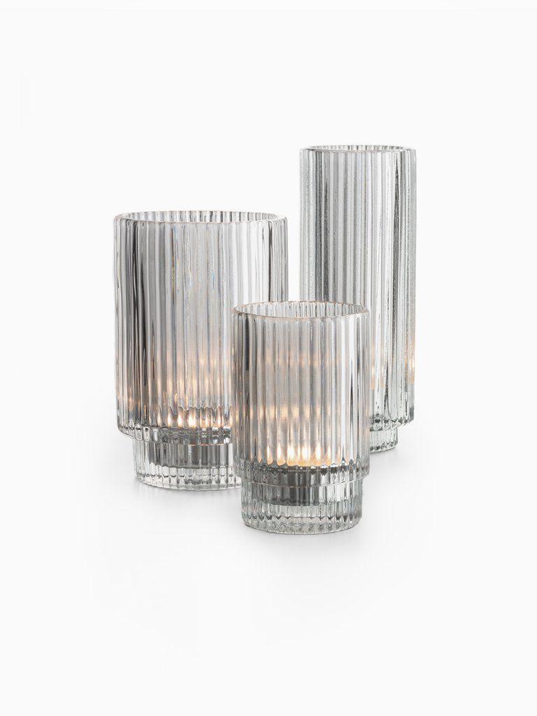 Ribbed Glass Tealight Holders Glass Tea Light Holders Glass Tealight Tea Light Holder