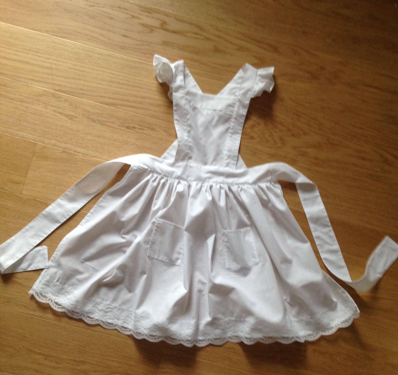WW1-The Great War-Edwardian Over Dress Apron-Girls Fancy Dress Costume Accessory
