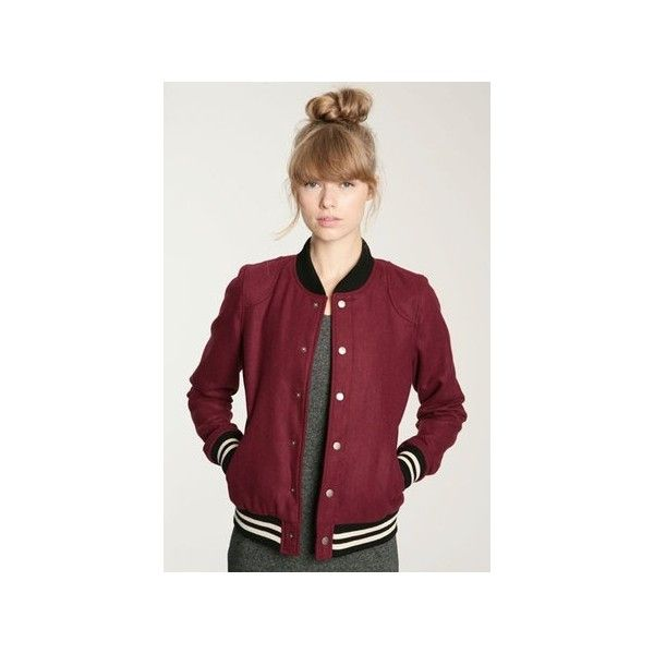 BDG Wool Varsity Jacket Coolspotters ❤ liked on Polyvore