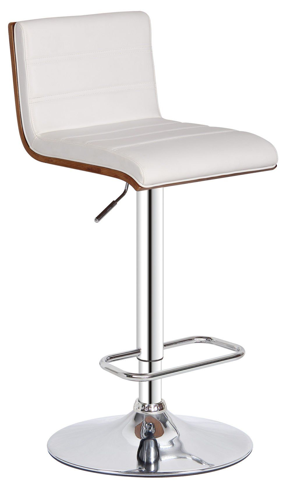 Terrific Bromi Design Bf2410Wh Lexi Adjustable Hegiht Barstool En Caraccident5 Cool Chair Designs And Ideas Caraccident5Info