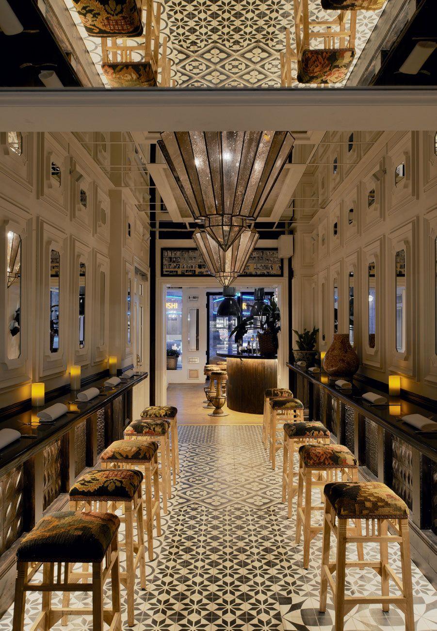 Nosh Chow Restaurant Stockholm Sweden Mirrored Ceiling Pretty Trippy Why Not Under Mezzanine