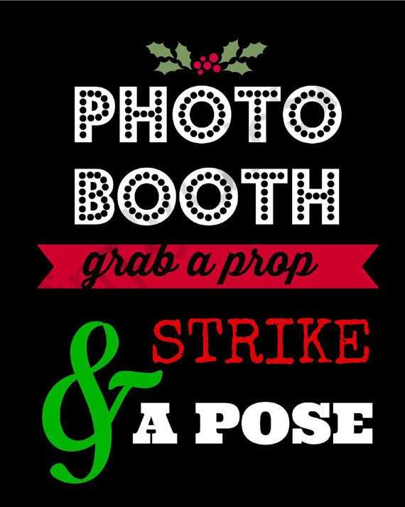 Christmas/ Holiday Photo Booth Sign printable, Ugly sweater party