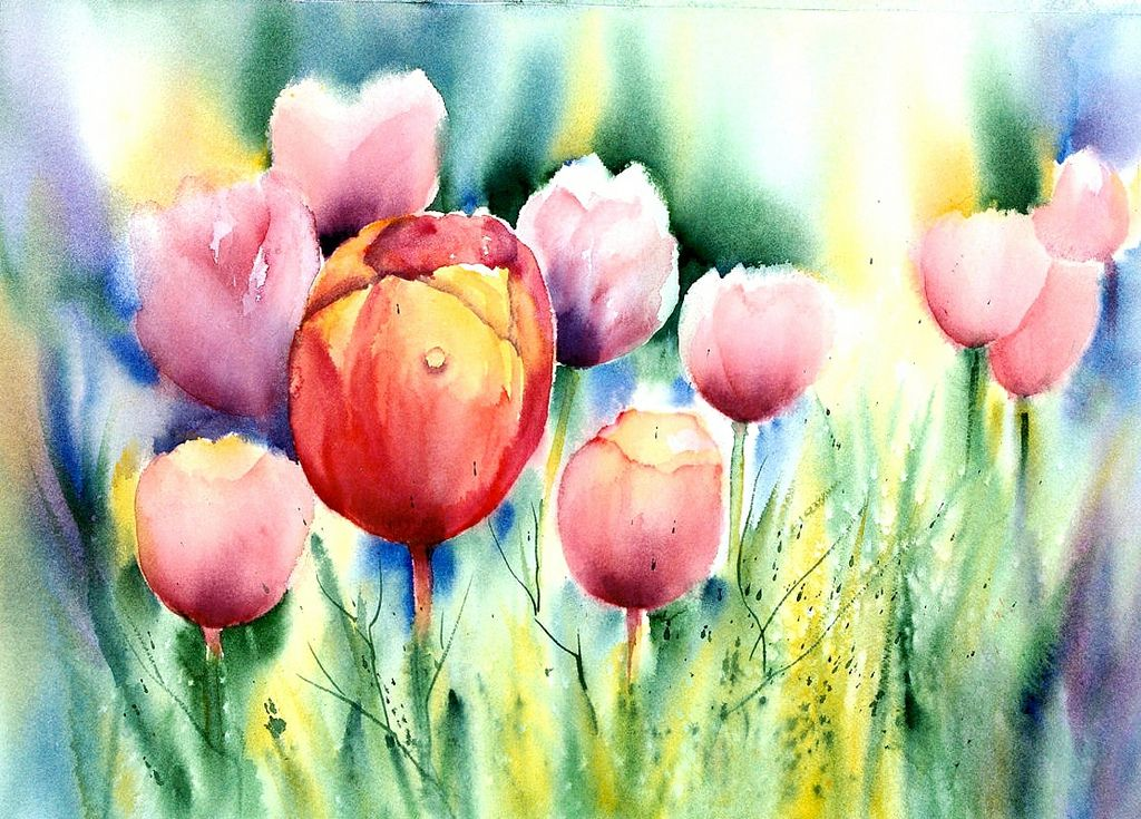 Tulpen Challenge Explored Thank You In 2020 Aquarell