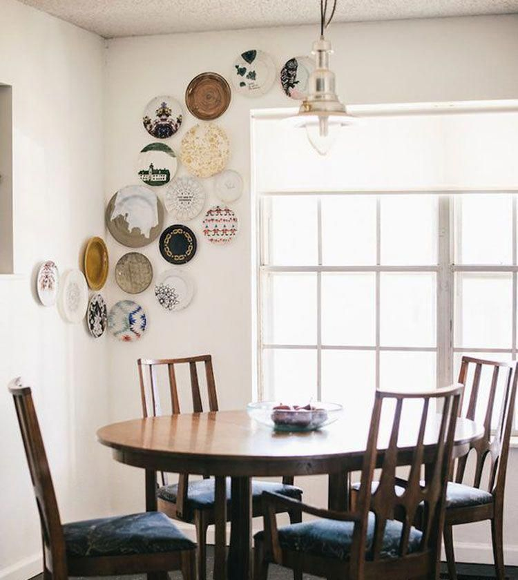 Budget Dining Room Decor In 2020 With Images Dining Room Walls Plates On Wall Unique Home Decor