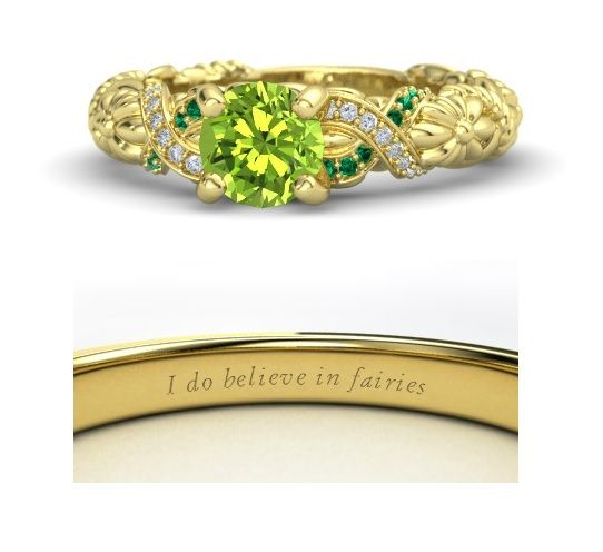 14k Yellow Or White Gold Engagement Rings For Women In