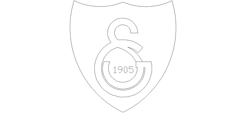 Gs Galatasaray Logosu Cizimi Semboller Cizim Autocad