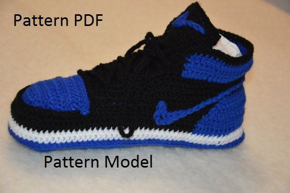 new products 784d0 ecb46 crochet jordans pattern PDF crochet pattern only and not the finished ítem.  You will receive