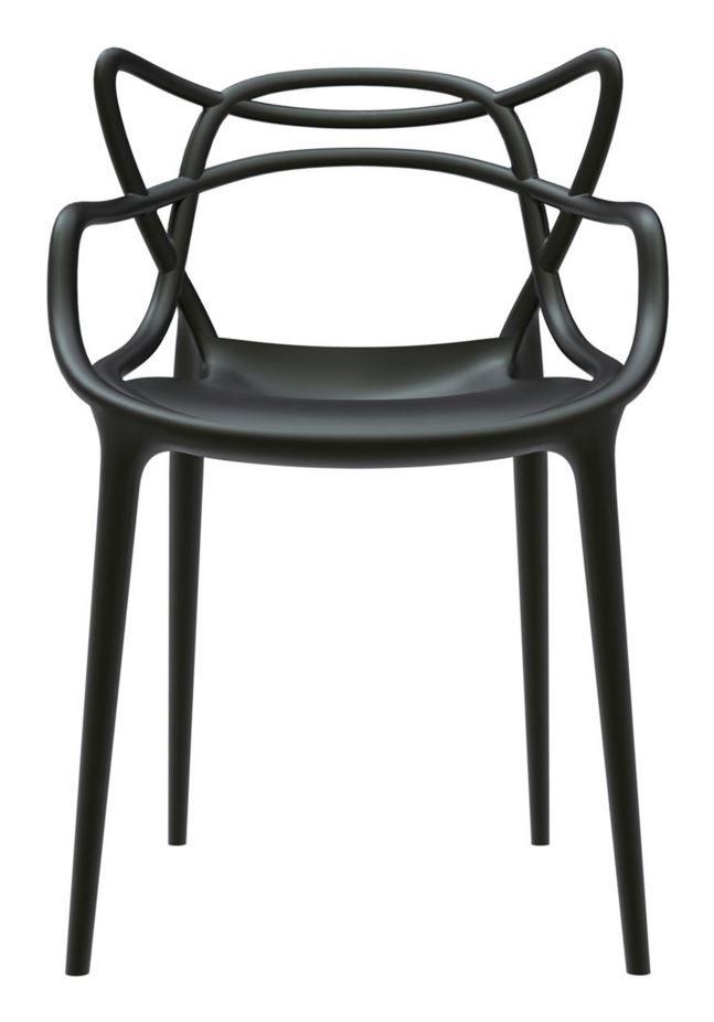 Black Kartelldesign Masters Chair Kartell Masters Chair Velvet Lounge Chair