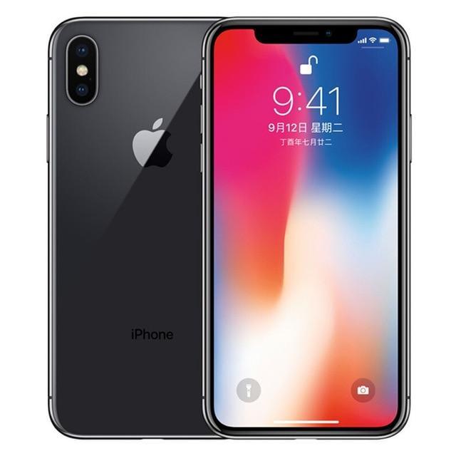 Original Apple Iphone X Face Id 5 8 Inch 3gb Ram 64gb 256gb Rom Hexa Core Ios A11 12mp Dual Back Camera 4g Lte Unlock Iphonex Apple Iphone Iphone Smartphone