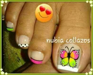 Pin De Estela Flores En Estrella Pinterest Nails Toe Nail Art Y