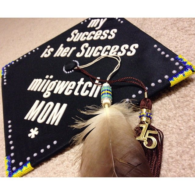 Native American Graduation Beaded Grad Cap Beaded Graduation Cap Graduation Cap Designs Beaded Graduation Cap Native American Grad Cap Decorated