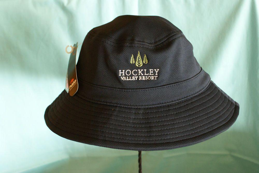 Pukka Headwear Navy Blue One Size Hockley Valley Resort 100% Cotton No Reserve #PukkaHeadwear #Bucket