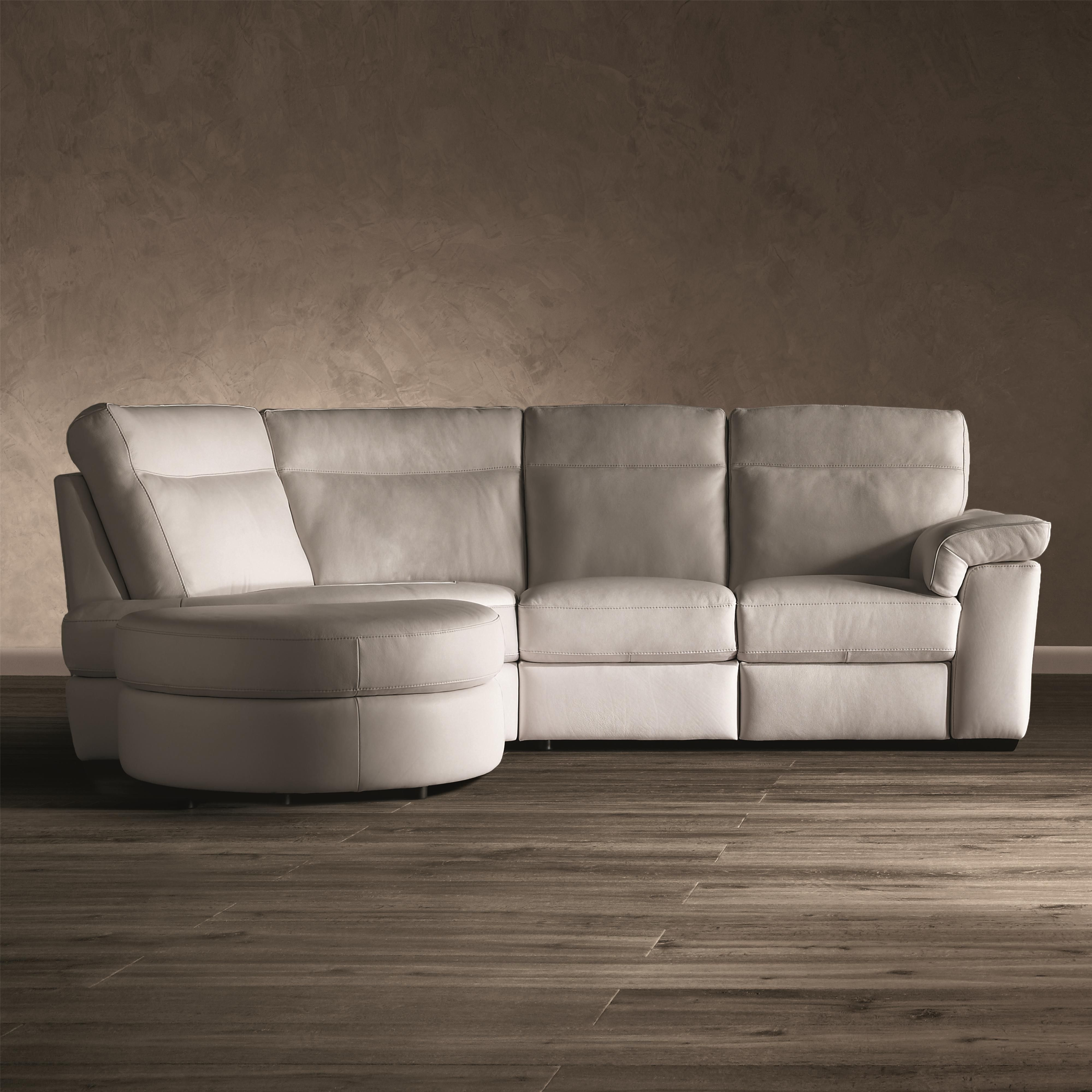 B757 3 Pc Stationary Sectional Sofa by Natuzzi Editions
