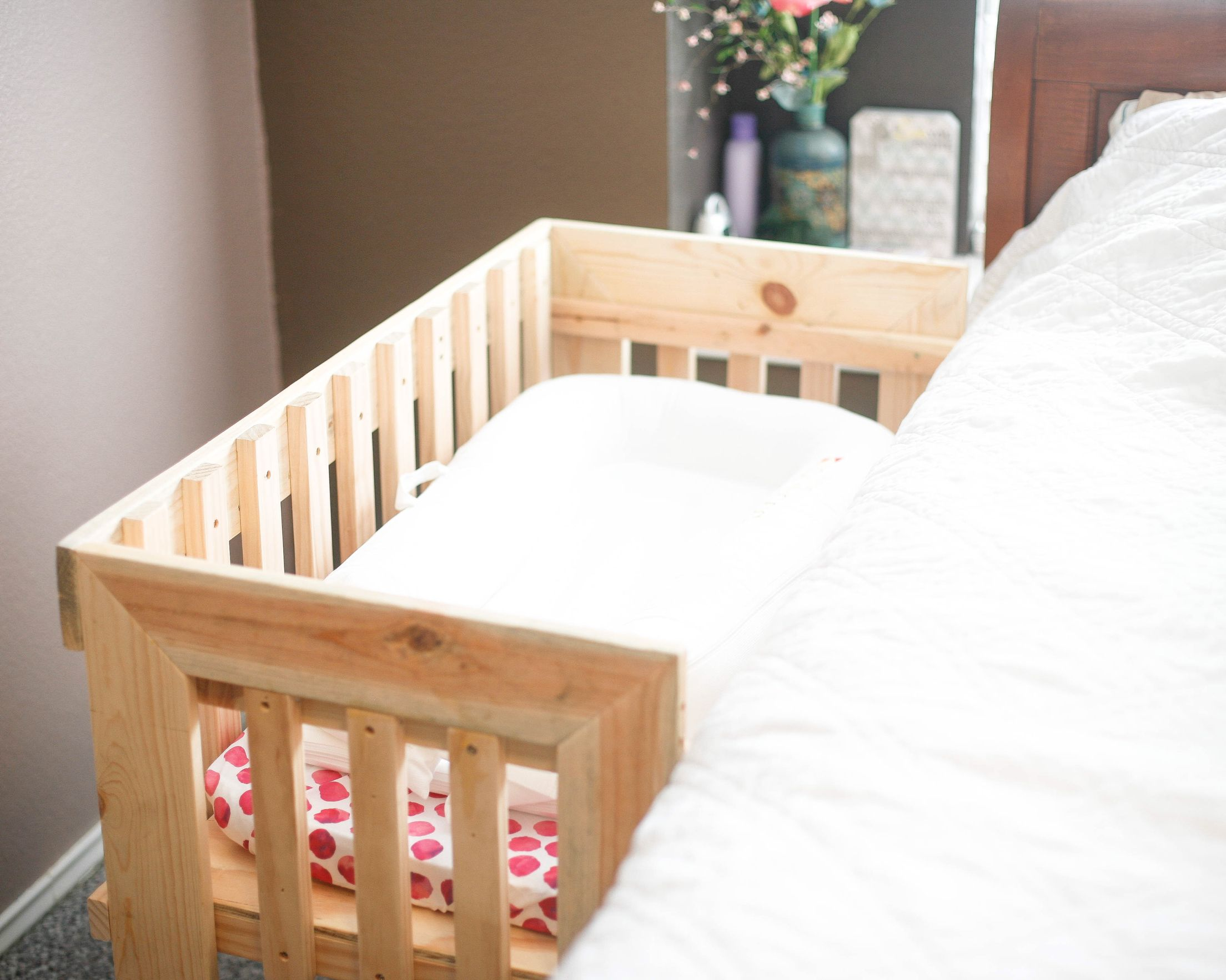 Wooden Cosleeper cosleeper crib newborn