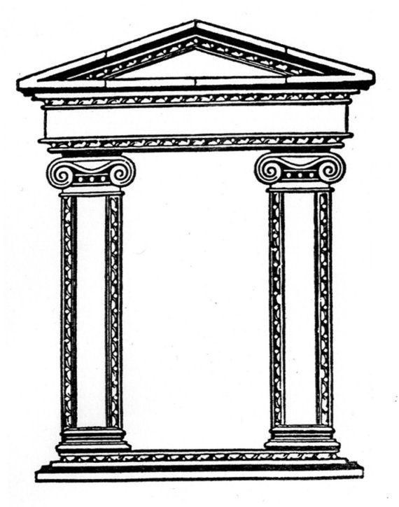 Roman Architecture Columns rubber stamp - columns - doorway - frame - roman architecture