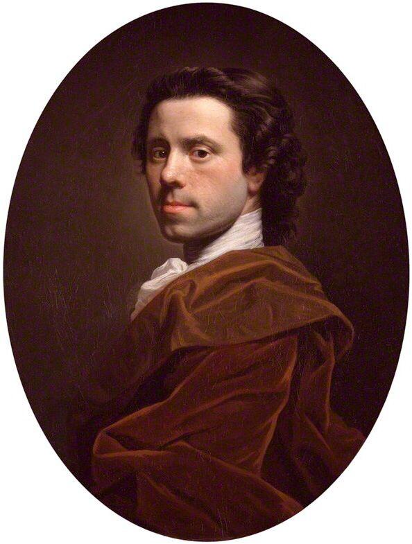 10/13- Happy Birthday, Allan Ramsey, Scottish portrait painter, 1713-1784. Self portrait.
