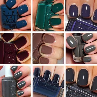 Fall Nail Colors OPI Ski Teal You Drop Essie Going Incognito No More Film Carry On Hot Cocoa Power Clutch