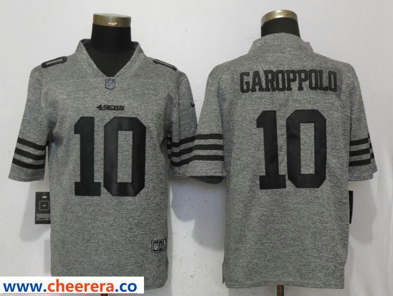 Men s Nike San Francisco 49ers  10 Jimmy Garoppolo Gray Vapor Untouchable  Limited Jersey be02d26be