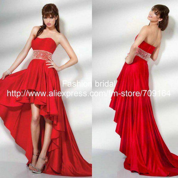Vestidos rojos largos con cola