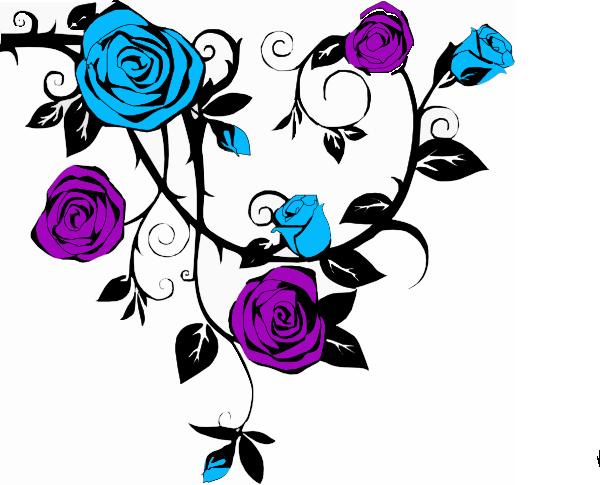 purple rose clip art Blue And Purple Rose clip art