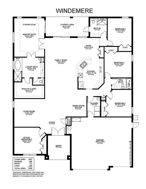 Highland homes wonderful windemere floor plan boasts 5 for Windemere homes floor plans