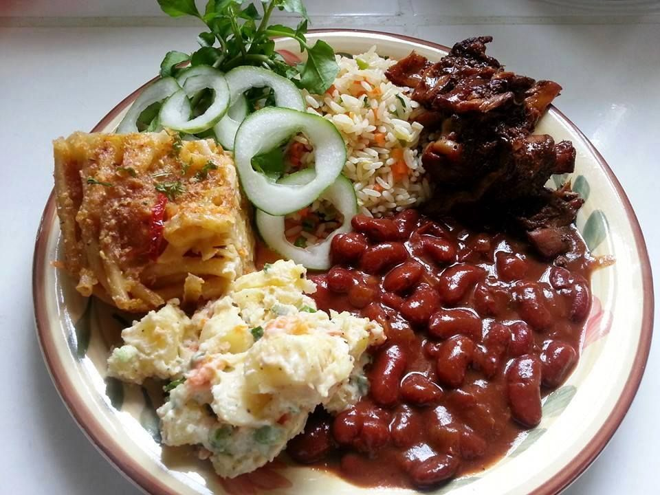 Trini sunday lunch plate omg mammy ah coming food for Sunday lunch ideas