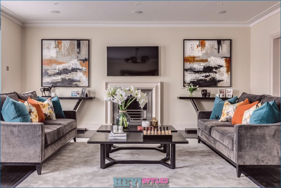 Making The Living Room Gray 101 Ideas For A Modern Living Area Living Room Orange Teal Living Rooms Teal And Orange Living Room