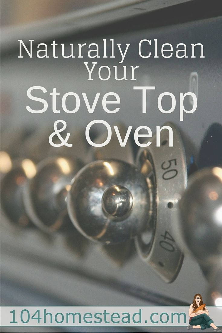 how to clean sticky stove top