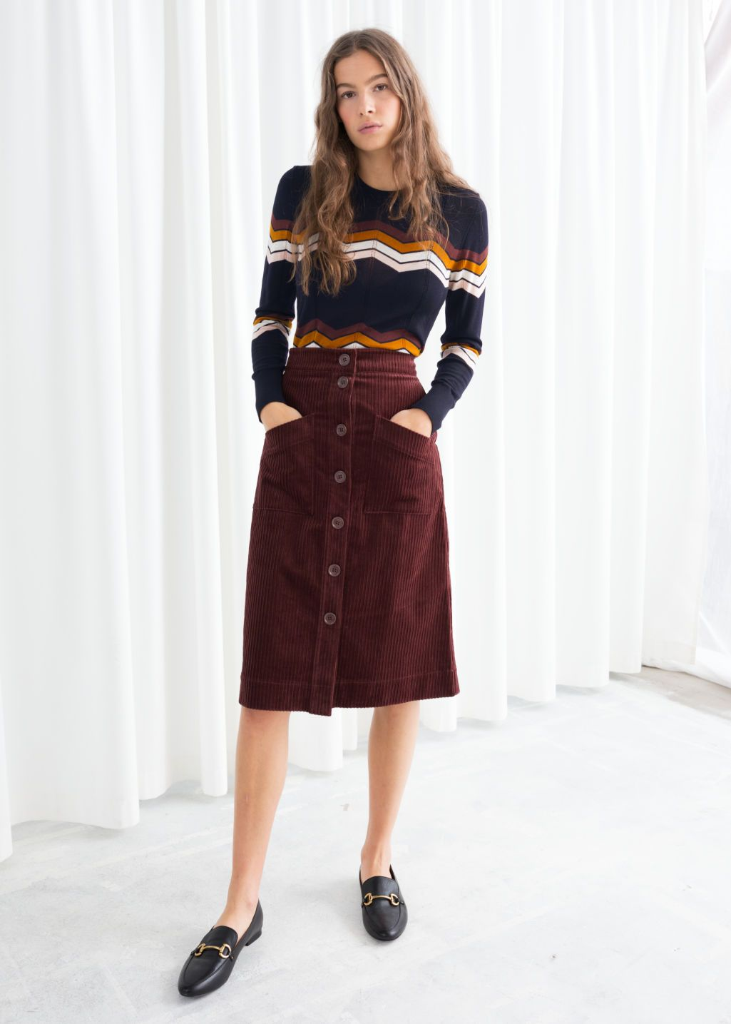 67ee61beb A-Line Corduroy Skirt in 2019 | Wish list | Corduroy skirt, A line ...