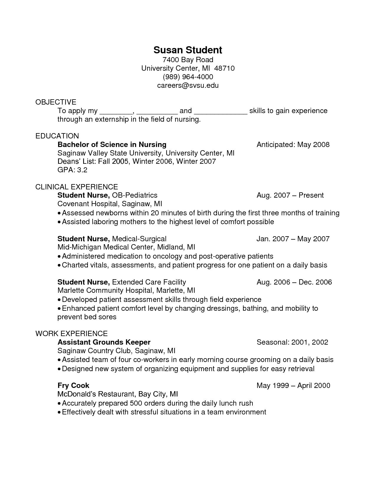 Oncology Nurse Resume Examplecareer Resume Template Career Resume Template