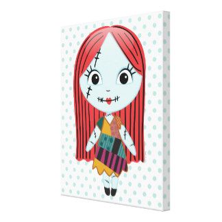 nightmare before christmas sally emoji 4 canvas print