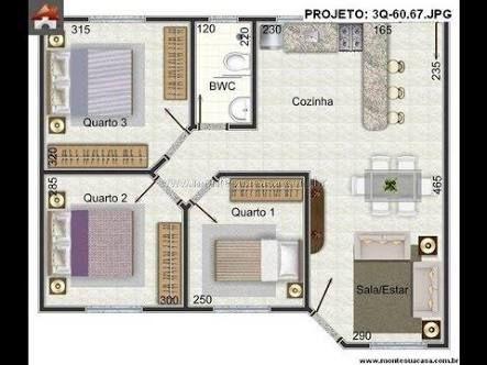 Resultado De Imagen Para Planta De Casas 80m2 Com Garagem. House DesignPlans  AppartementEsmeraldaSanta ...