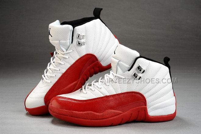 new product 8196a 88377 Only 74.00 AIR  JORDAN 12 WHITE RED LEATHER WOMEN  SHOES 31045 Free  Shipping!