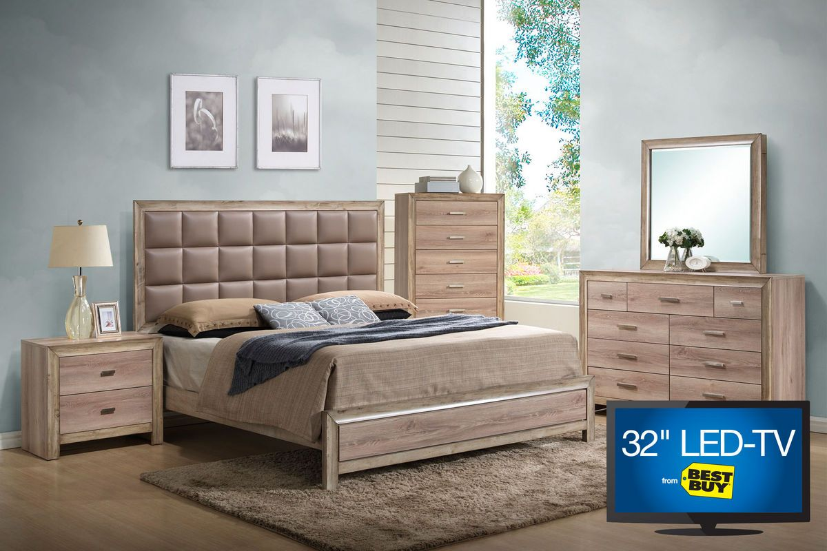 Sawyer King Bedroom Set With LED TV From Gardner White Furniture