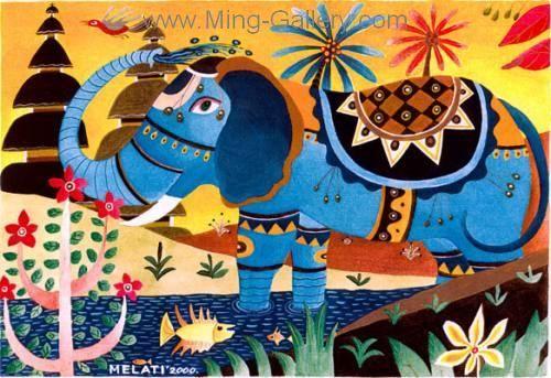 BAM0012 - Bali Art Oil Painting