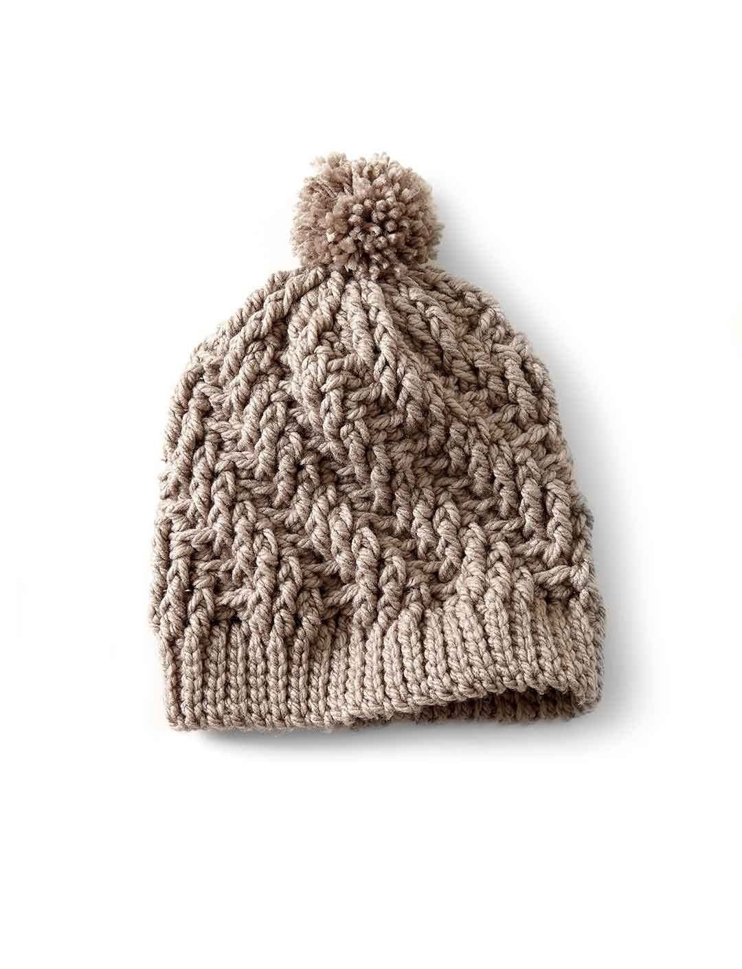 Stepping Texture Hat free crochet beanie pattern | WHOot Best ...