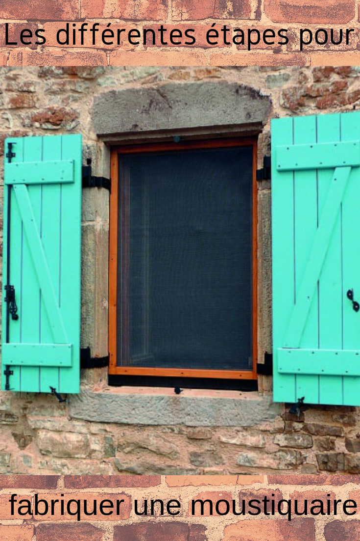 Fabrication d'une moustiquaire amovible pour cadre de fenêtre | Moustiquaire fenetre ...